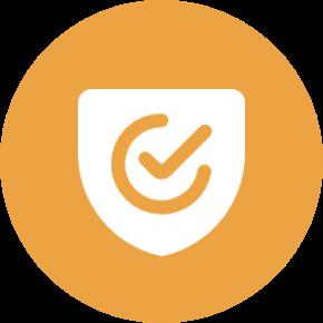 orange shield icon
