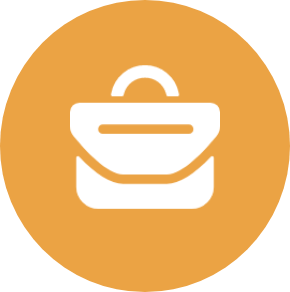 orange messenger bag icon