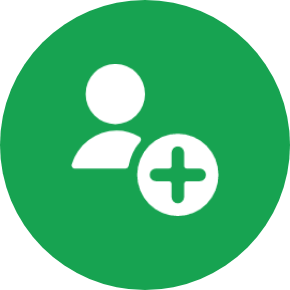 user with plus sign icon