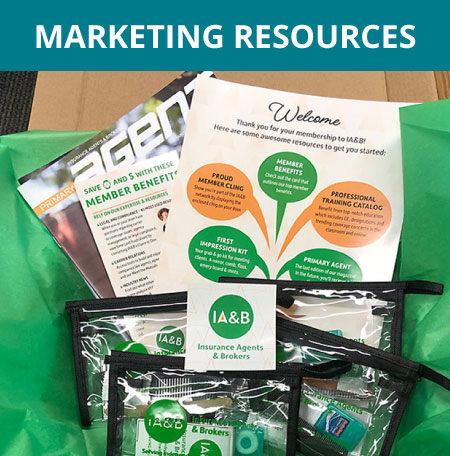 collection of ia&b marketing materials